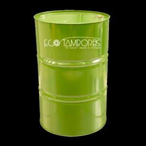 ecotambores-contenedor-metalico-tambor-verde-liso